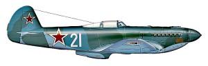 Як-9У Героя Советского Союза Гвардии майора А. Решетова, командира 1-й эскадрильи 31-го Гвардейского истребительного авиаполка  ( 268-я ИАД, 8-я Воздушная армия ). 1945 год. Реконструкция облика этого самолёта выполнена по архивным фотографиям