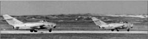 Истребители МиГ-15 1-го гв. иап. Венгрия, 1950-е гг.